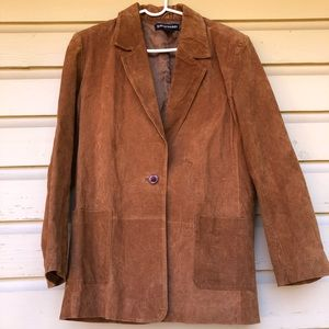 Vintage 90s Suede Leather Coat